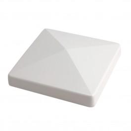 """LMT 1000W 3 1/2"""" Flat Post Cap (External) - White"""