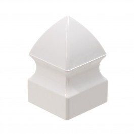 "1"" x 1"" Gothic Vinyl Picket Cap (White) - LMT 1044"