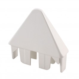 "LMT 1066W 7/8"" x 3"" Sharp Picket Cap - White"