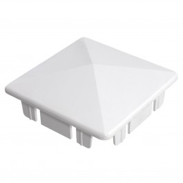 "LMT 1080W 4"" Internal Pyramid Post Cap - White"