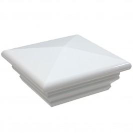 "LMT 1140W 5"" Federation Vinyl Post Cap - White"
