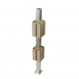 """36"""" General Purpose Post Mount with 5"""" PVC Guides (Galvanized) - LMT 1573B"""