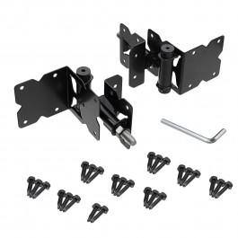 Adjustable Self-Closing Stainless Steel Black Gate Hinges (Pair of 2)