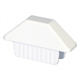 "LMT 1012-CW 7/8"" x 3"" Dog Ear Picket Cap (0.758"" x 2.865"" Inside Dimension) - White"