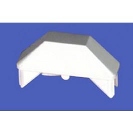 "LMT 1442W 7/8"" x 3"" Dog Ear Picket Cap (0.770"" x 2.880"" Inside Dimension) - White"