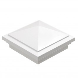 "LMT-1471W 3 5/8"" Sq. Haven Vinyl Post Cap - White"