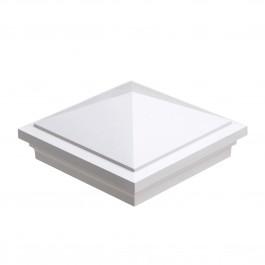 "LMT-1502W 5"" Sq. Haven Vinyl Post Cap - White"