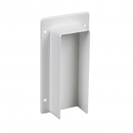 "LMT M-260E-WHITE 2"" x 6"" External Rail Bracket - White"