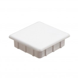 "1 1/2"" Sq Internal Vinyl End Cap (White) - LMT OTI-22ICC"