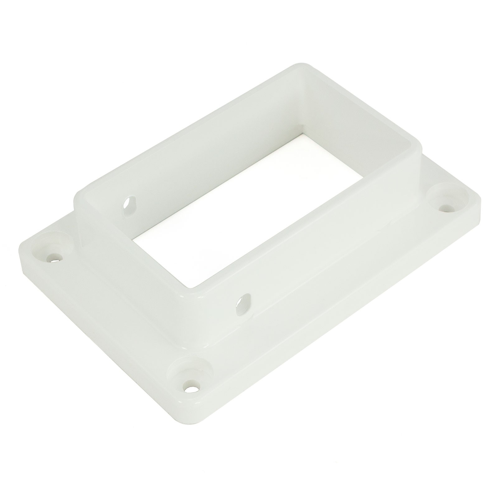 """LMT 1219-WHITE 2"""" x 3 1/2"""" Slotted Handrail Vinyl Bracket ..."""